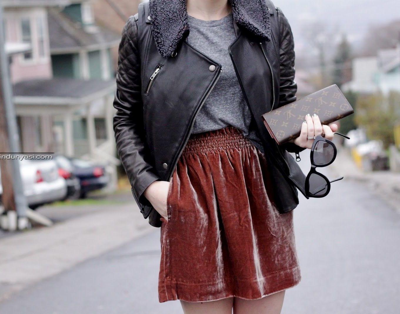 Бархатные юбки: особенности выбора
