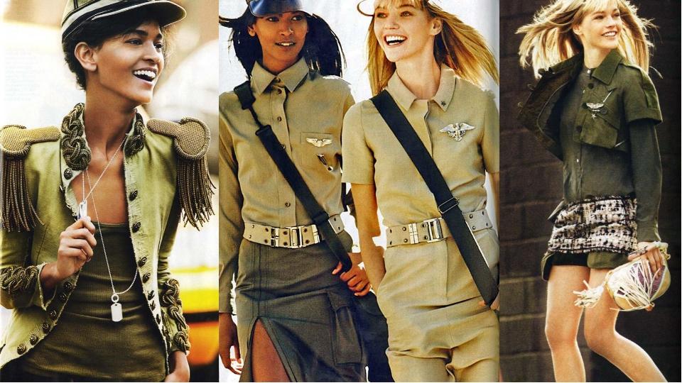 Джинсовая юбка и стиль Милитари