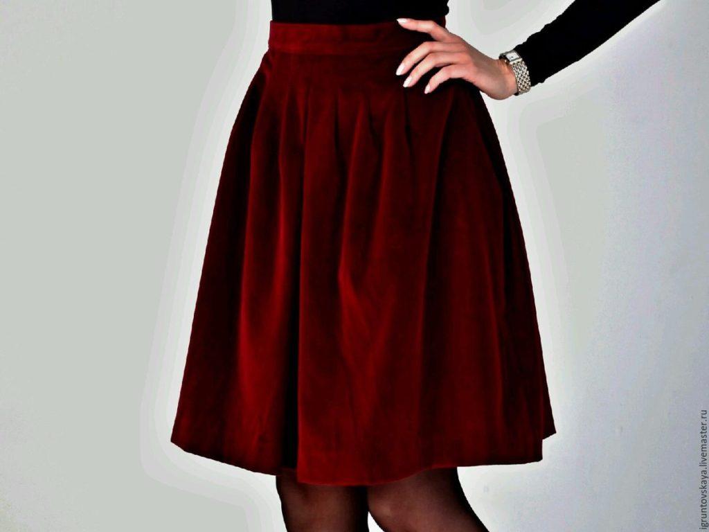 бархатные юбки: как выбрать