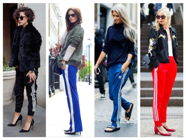 С чем носить брюки с лампасами?