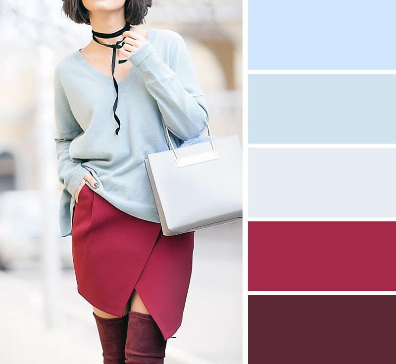 Бордовый цвет в одежде – ярко, элегантно, роскошно