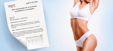 Подбор диеты для похудения онлайн, консультация диетолога